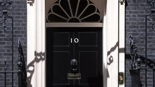 the door to number 10