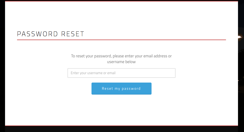 Tmr Password Reset
